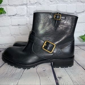 MARC BY MARC JACOBS Biker Leather Ankle Boots
